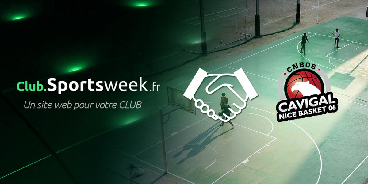 Partenariat entre Cavigal Nice Basket et Club.Sportsweek