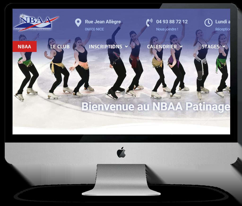 Le site internet du NBAA club de patinage de Nice fait peau neuve !