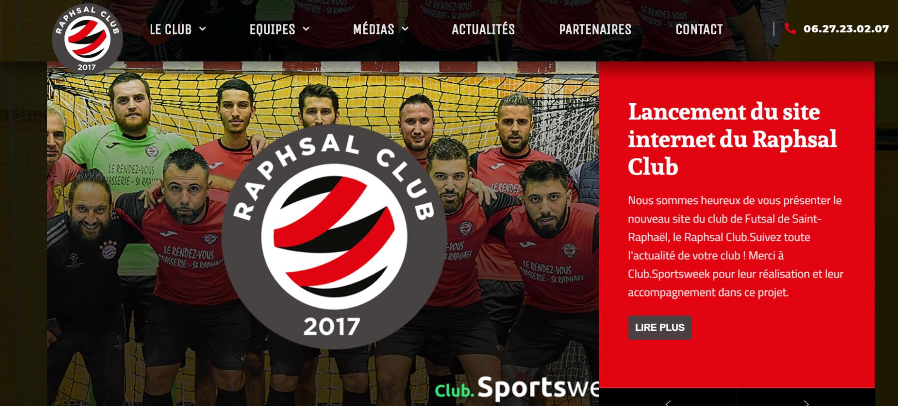 Le club Futsal du Raphsal Club a son site internet